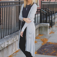 Cabin Fever Cardigan - Heather Grey