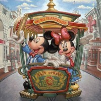 5D Diamond Painting Mickey & Minnie Main Street Trolly Kit