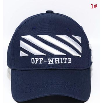 Off White Fashion New Embroidery Letter Arrow Camouflage Sun Protection Women Men Cap Hat 1#