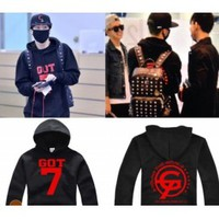 GOT7 - Goods : Black JR Sweater Long Sleeve Hoody [AEX]