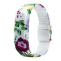 Fashion! Womens Mens Kid Floral Printed Bracelet Dress Watches Rubber LED Date s Digital Wrist Watch IMY66