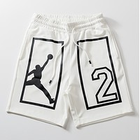 Jordan New fashion letter people print couple shorts White