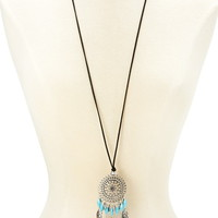 Feather Pendant Necklace | Forever 21 - 1000152272