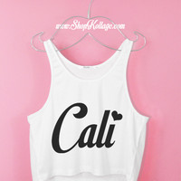 Cali Heart Crop Tank Top