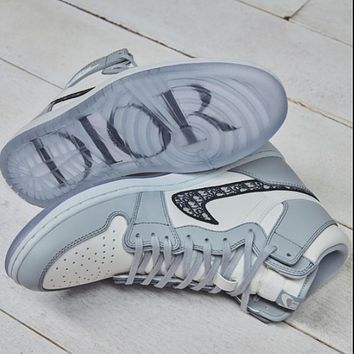 Dior x Air Jordan 1 New Hot Sale Men's and Women's High-Top Sneakers