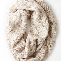 AEO Women's Don't Ask Why Mixed Knit Scarf