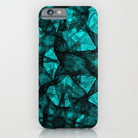 Fractal Art Turquoise G52 iPhone & iPod Case by MedusArt   Society6
