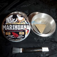 Marihuana Roots From Hell 4 Piece Herb Grinder Pollen Screen and Catcher