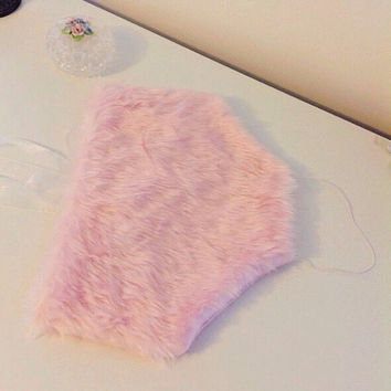 SUPER CUTE!!!!! Pink faux fur fluffy crop top uk - one size fits uk 6-10