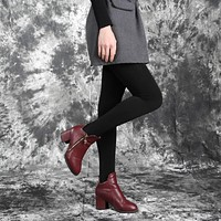 Fashion Casual Warm Faux Velvet Winter Women Leggings Knitted Thick Slim Super Elastic Pants