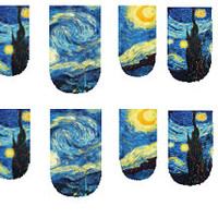 Starry Night Painting Nail Decal by PineGalaxy on Etsy
