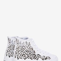 Vans Sk8-Hi Cut-Out Leather Sneaker - White