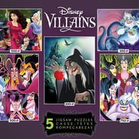 Ceaco Disney Villains - 5 in 1 Collection of Jigsaw Puzzles