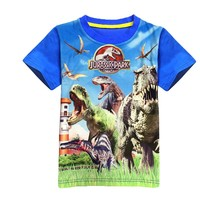 t-shirt boys dinosaur 2017 summer t-shirt children jurassic park brand clothing kids short sleeve 3d print T shirt cotton poly