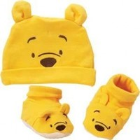 Disney Baby Winnie The Pooh Infant Cap & Booties Gift Set