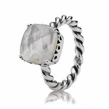 Pandora Mother of Pearl Path Ring - Item 190828MP