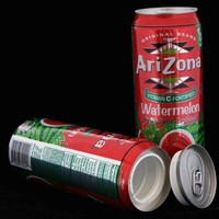 Arizona Watermelon Safe Can Hidden Stash+Free Pack of 1 1/4 Rasta Wrap