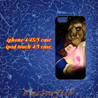 iphone 4 case,iphone 4s case,iphone 5 case,ipod touch 4 case,ipod touch 5 case--beauty and the beast,in plastic and silicone