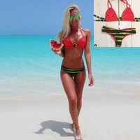 The new watermelon bikini swimsuit sexy women