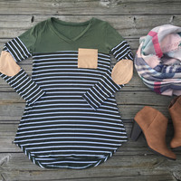 ELBOW PATCH OLIVE SHIRT
