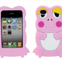 lovely 3D frog Silicon case for iphone 4/4s