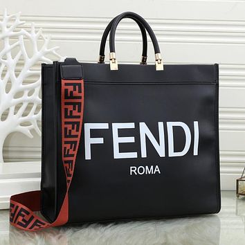 Fendi Women Fashion Leather Chain Satchel Shoulder Bag Handbag Crossbody