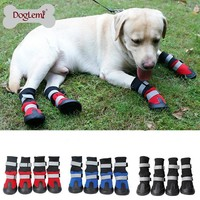 Fashion Online Waterproof Dog Boots Shoes Anti-slip Snow Boots Dog Warm Paw Protector In Winter