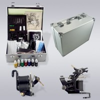 Tattoo Kit Two Guns Complete Set Carrying Case