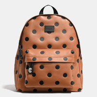 Small Campus Backpack in Saddle Dot Leather