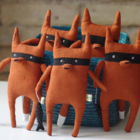 Bandit fox  by adatine on Etsy