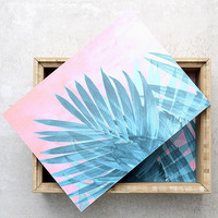 DENY Designs Palms Pink and Blue Palm Print Jewelry Box