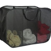 Micro Mesh 3-Compartment Hamper