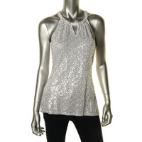 INC Womens Jersey Sequined Tank Top