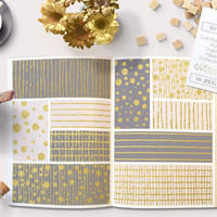 Pink, Grey and Gold Foil Digital Paper. Gray and gold patterns and backgrounds. Perfect for backgrounds, scrapbooking. Instant Download