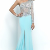 One Sleeve Gown by Blush by Alexia
