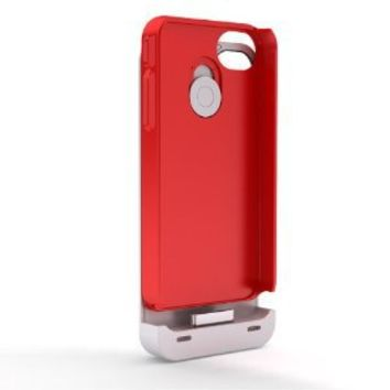 Maxboost Hybrid Slim Protective Snap-on Case for Apple iPhone 4 / 4S - Red (Compatible to Maxboost hybrid iPhone 4/4S Battery Case, No Battery Included, Fits Any Version of iPhone 4 & iPhone 4S)