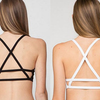 Sexy Women Padded Bra Caged Back Bralette Crop Top for women swimsuit women bodysuits women bralette