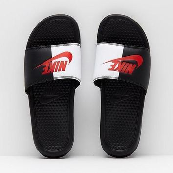 NIKE New Fashion Trendy Summer Sandals Slippers Flip Flop Shoes Black white red