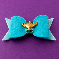 Princess Jasmine Hair Bow - Aladdin Felt Hair Bow - Disney Inspired