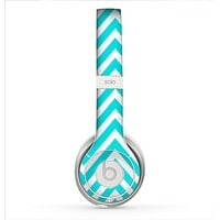 The Trendy Blue Sharp Chevron Pattern Skin for the Beats by Dre Solo 2 Headphones