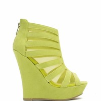 Mesh Inset Laddered Wedges