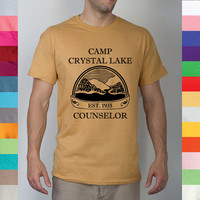 Camp Crystal Lake Counselor Forest Green Friday The 13th Blood Jason Voorhees Mask Scary Classic Horror Movie Funny T Shirt R15 224455792