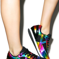 Y.R.U Flash Sneakers Black/Rainbow