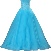 Sunvary Gorgeous Sequin Tulle Prom Dresses for Quinceanera Ball Gown