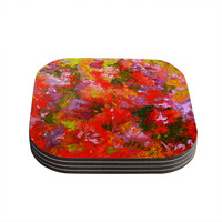 "Jeff Ferst ""Summer Garden"" Floral Painting Coasters (Set of 4)"