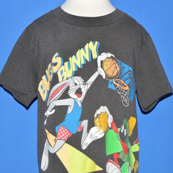 90s Bugs Bunny Marvin The Martin Basketball t-shirt Youth Size 7