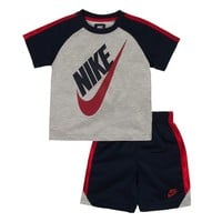 Nike Logo Tee & Shorts Set - Toddler Boy, Size: