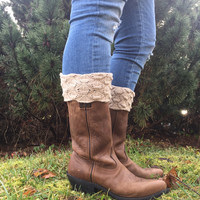 Scalloped Knit Boot Cuffs