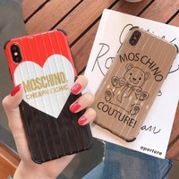 MOSCHINO Popular Women Mobile Phone Cover Case For iphone 6 6s 6plus 6s-plus 7 7plus 8 8plus X XS Max XR