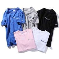 Champion Women Men Fashion Casual T-Shirt